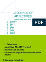 SEQUENCE OF ADJECTIVES.ppt