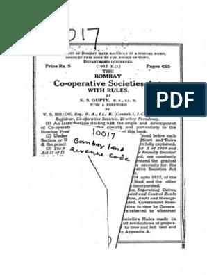 bombay land revenue manual | Leasehold Estate | Civil Law