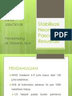 Stabilisasi Neonatus Pasca Resusitasi (STABLE)