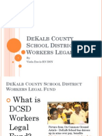 DeKalb County School District Workers Legal Fund PowerPoint Presentation