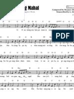 U.P. Naming Mahal - Sheet Music