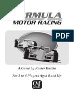 Formula Motor Racing Rules