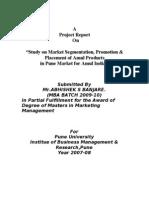 marketing segmentation AMUL.doc