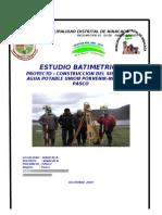 Informe Batiemtrico Chacacancha y Cutaycocha