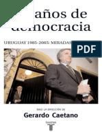 Bertola Bittencourt 20 Anos de Democracia Sin Desarrollo Economico