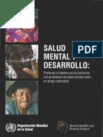 Salud Mental y Desarrollo