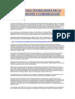 LAS NUEVAS TECNOLOGÍAS EN LA INFORMACIÓN Y COMUNICACIÓN