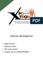 informe EXPOTRON.ppt