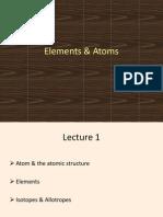 Atoms  Elements