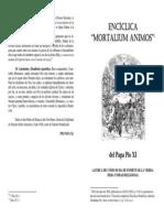 Encíclica Mortaliun Animos - Pío XI
