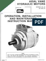 (YD2312614) Von Ruden Axial Vane Hydraulic Motor Manual