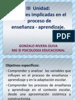 Diapo 7- Unidad 3 Variables Implicadas en Los Procesos de Ensenanza Aprendizaje (1)