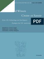 Jaspers - Glaube Und Wissen (2008)