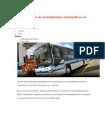 Impulsan el uso de transmisiones automáticas en buses