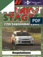 Patriot Stages 2009 SRs