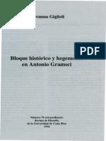 Giglioli, G. - Bloque Historico y Hegemonia en Antonio Gramsci