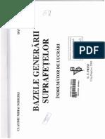 BAZELE GENERARII SUPRAFETELOR INDRUMATOR DE LUCRARI