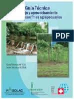 Guia Tecnica Manejo y Aprovechamiento de Agua Con Fines Agropecuarios