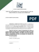 Recurso Inominado Mae - Proc Contra Marisa e Itaucard - Juizado