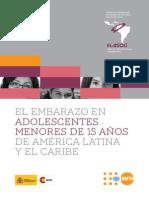 FLASOG El embarazo adolescente en menores de 15 años en América Latina y el Caribfe
