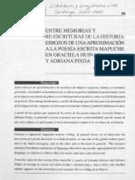 Moraga(2001) Entre Memorias