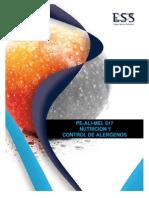 PE-ALI-MEL 017 Nutrición y Control de Alérgenos C-5400.