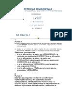 Competencias Comunicativas Act 5 Quiz