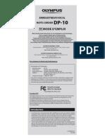 Olympus DP-10 Mode d'Emploi FR