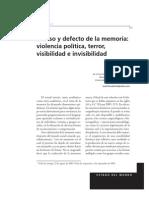 Cabrera, M - Exceso y Defecto de La Memoria