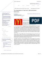 """The Globalization of """"Fast Food"""". Behind the Brand"""