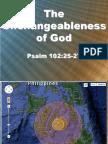 The Unchangeableness of God