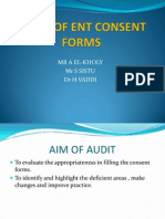 AUDIT OF ENT CONSENT FORMS.ppt