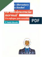 146627565 La Adolescencia Normal Un Enfoque Psicoanalitico Arminda Aberastury y Mauricio Knobel