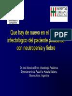 Que Hay de Nuevo en Neutropenia Febril