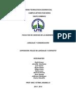 Roles de Lenguaje y Contexto Grupo # 3