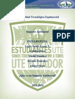 Universidad Tecnológica Equinoccial-Impacto AMBIENTAL