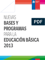 Folleto Bases Curriculares 2013