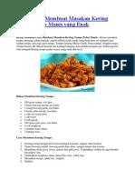 Resep Cara Membuat Masakan Kering Tempe Pedas Manis yang Enak.docx