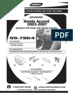 Accord Dash Kit (Metra, 99-7864)