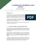 Proceso Administrativo Disciplinario en El Magisterio