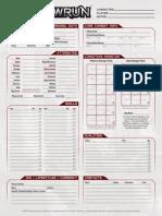Shadowrun 5th Edition - Character Sheet