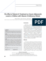The Effect of Vitamin D Treatment on Serum Adiponectin Done Linda