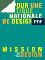 Pour une politique nationale de design