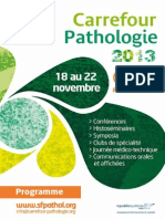 Carrefour Pathologie 2013 :Programme