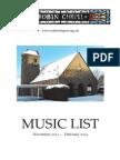 Music List Nov 2013 - Feb 2014