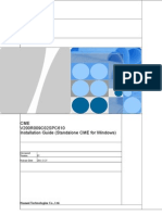 CME V200R009C02SPC610 Installation Guide (Standalone CME for Windows)