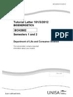 BCh 2602 2012 tutorial