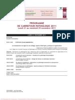 Carrefour Pathol 2011 Programm