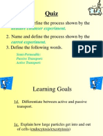 Active and Passive Transport1