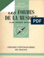Hodeir, André - Les Formes de la Musique